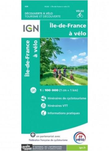 Carte IGN France et régions - Randonnées à vélo