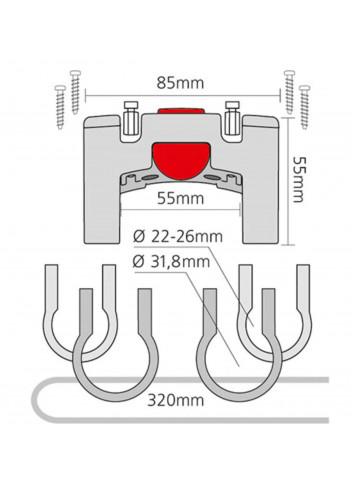 Support guidon universel - Klickfix - 22/32mm