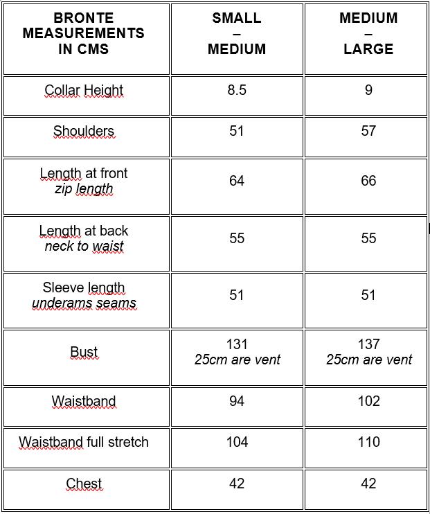 tableau guide des tailles je suis a velo bronte georgia in dublin
