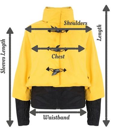 guide des tailles mensurations veste georgia in dublin bronte